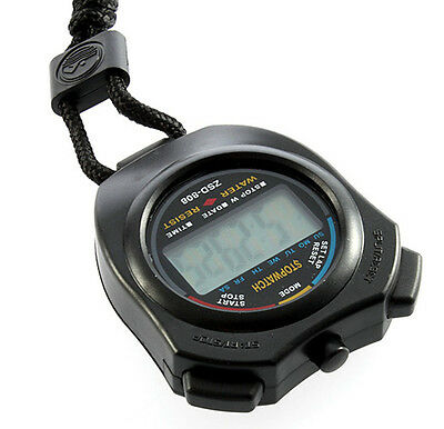 Handheld Digital LCD Chronograph Sports Stopwatch Counter Timer with Strap GA
