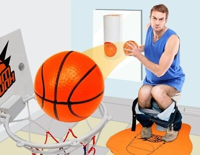 SLAM DUNK NOVELTY TOILET BASKETBALL GAME, Funny Gift for Guy, Man, Batchelor Pad