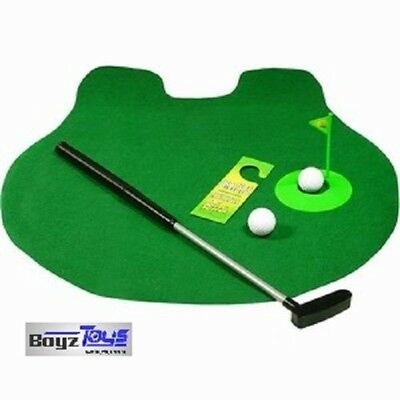 Putt Putt & Flush (Toilet Golf) - Great Gift for Man, Golfing, Christmas Idea