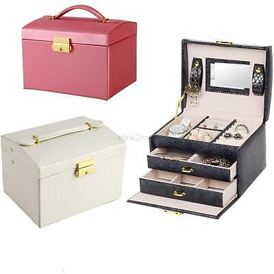 Jewelry Bracelet Earrings Storage Container Organizer Box Case Holder Fashion