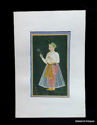 Rare Hand Painted Fine Decorative Collectible Indian Miniature Painting. G77-26
