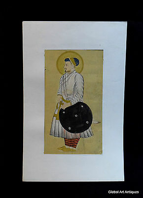Rare Hand Painted Fine Decorative Collectible Indian Miniature Painting. G77-30