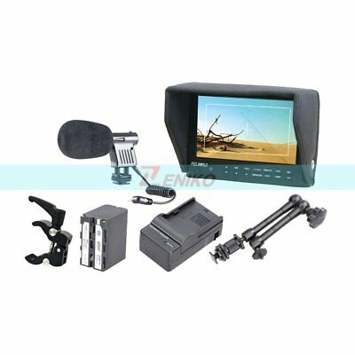 "FEELWORLD FW-7D 7"" HD LCD Camera Monitor + Battery & Charger + Magic Arm + Clamp"