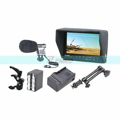 "FEELWORLD FW7D/O 7"" Camera HD Monitor + Battery & Charger + Magic Arm +Clamp"