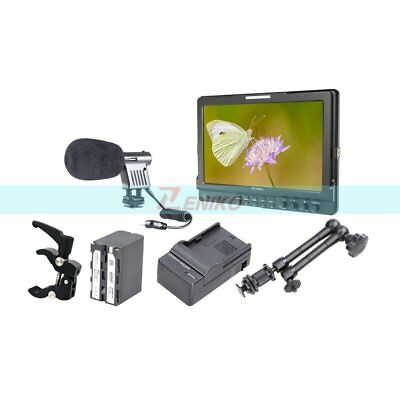 "Feelworld FW1019 10.1"" IPS 3G-SDI HD Monitor+ Battery&Charger + Magic Arm +Clamp"