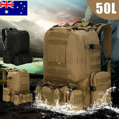 50L Molle 3 Day Assault Tactical Outdoor Military Rucksacks Backpack Hiking Bag