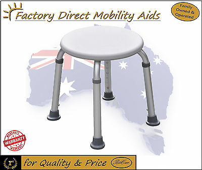 2 x Aluminium Round Shower Stool easy to assemble Top Quality!