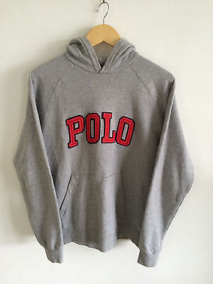Vintage Polo Ralph Lauren Polo Spell Out Stadium P 92 Bear Hooded Hoddie Rare