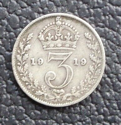 1919 3d George V Silver Threepence