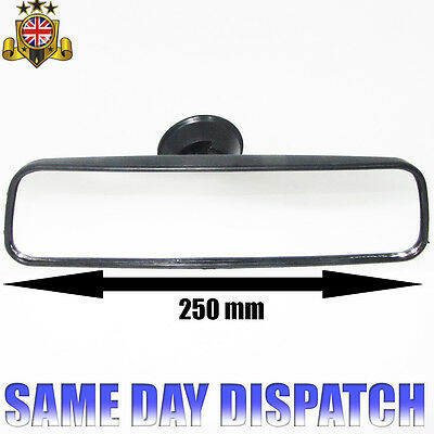 CAR INTERIOR WIDE REAR VIEW MIRROR 25cm UNIVERSAL