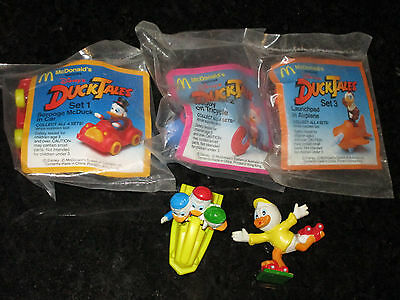 McDonalds Ducktales Full Set of 5 MIP - 1988 Happy Meal toys Duck Tales Disney