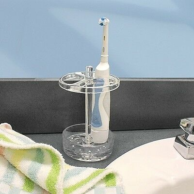 Toothbrush Stand Holder LARGE Holds four hand & electric toothbrushes bathroom