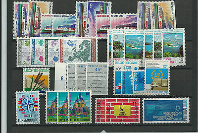 Europe Super Selection Of Mnh** On 5 Large Stock Cards