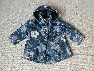 Next Girls Hooded And Fleece Lined Raincoat Size 2-3 Years
