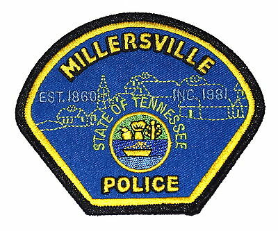 MILLERSVILLE TENNESSEE TN Police Sheriff Patch CHURCH HOME TALL SAILING SHIP ~
