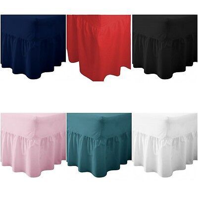 Plain Dyed Fitted Valance Sheets Polycotton, Huge Range, Single Double King