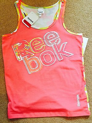 Girls Reebok Pink Vest Top - Age 14