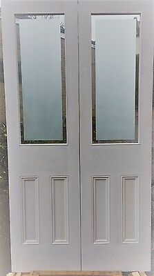 Internal French Door Etched Glass Painted White
