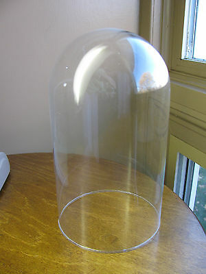 """Clear Glass Cloche Dome Display H-8.5"""", D-4.5"""" No base Just the Dome Replacement"""