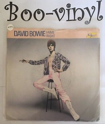 """David Bowie. Fame / Right. Uk 7"""" Vinyl 45 Pic Sleeve.1983. Rca Bow 507. Glam"""