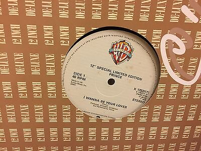"Prince I Wanna Be Your Lover Orig Uk 12"" Single 1979 Mint"