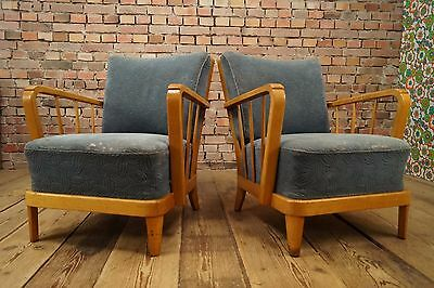 50s Retro 2x COCKTAIL CHAIR DANISH CHAIRS ARMCHAIRS FAUTEUIL Vintage STILNOVO 4