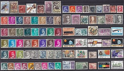 Collection Of 84 ESPANA SPAIN SPANISH Pesata Cents Used Stamps