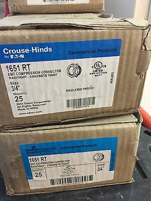 """Crouse Hinds 1651 EMT Compression Connector 3/4"""" Insulated *NEW IN BOX"""