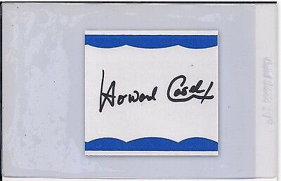 AUTOGRAPHED HAND SIGNED Bookplate Howard Cosell, American Sports COA FREE SHIP