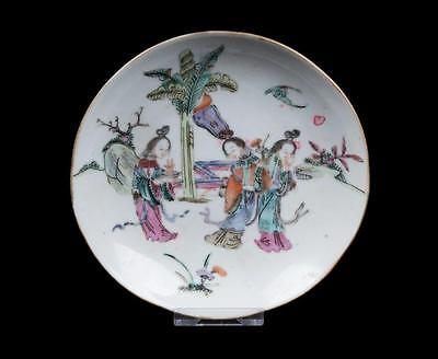 China 19. Jh. Teller - A Chinese Famille Rose Dish Qing - Tongzhi Cinese Chinois