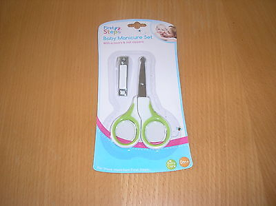 Closing Down Sale-Green Baby Manicure Set With Scissors And Clippers