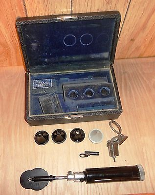 Vintage Bausch & Lomb Arc-Vue  May Ophthalmoscope in Case circa 1930's