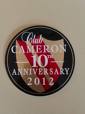 RARE 2012 Scotty Cameron 10th Anniversary Club Cameron Sticker