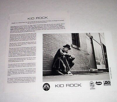 Kid Rock Promo Photo Devil Without A Cause + 4 Page Press Release Atlantic 8X10