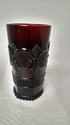 Avon 1876 Ruby Cape Cod Collection Ruby Red 12 oz Tall Tumbler
