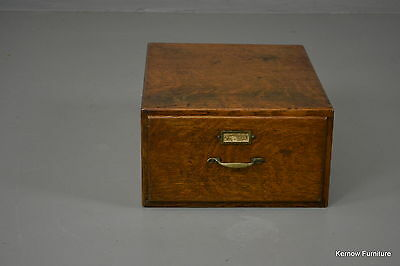 Early 20th Century Oak Filing Index Desk Top Drawer