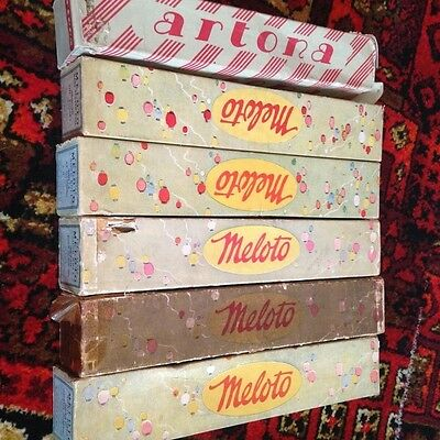 Job Lot of 6x Meloto Piano Rolls Pianola Artona Full Scale