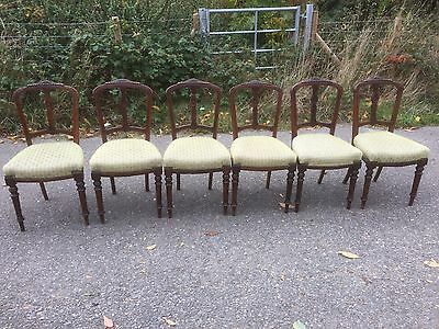 Lovely Set Of Six Regency Design Mahogany Dining Chairs