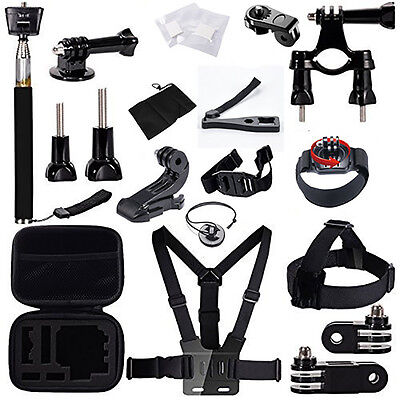 27-In-1 Sport Accessory Kit Set Bicyle Riding For GoPro Hero 4 3+ 3 2 1