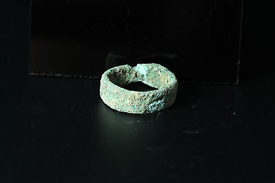 3000 + Year old Ancient Bactrian bronze ring found in Afghanistan Size US 1 #2