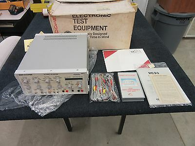 Sencore All Format Vcr Vhs Analyzer Tester Vc93 New !!!!!