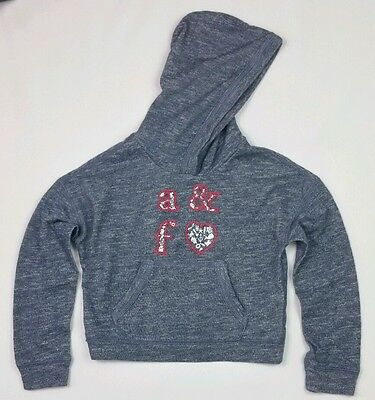 Girls A&F Abercrombie & Fitch Blue Marl Poncho Hoodie Hoody Age 5-6 Years BNWT