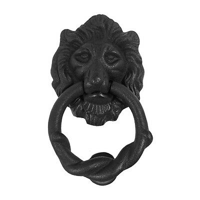 Cast Iron Lion Door Knocker Matte Finish 6 H x 3-3/4 W | Renovators Supply