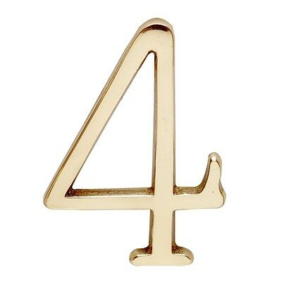 Bright Solid Brass 3 Address House Number 4 Pin Mount | Renovators Supply