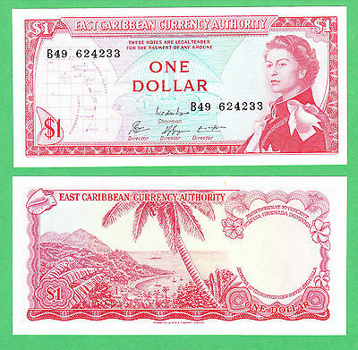 East Caribbean States 1 Dollar Note P-13e UNCIRCULATED