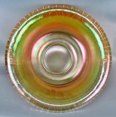 "STRETCH GLASS - JEANNETTE Marigold Carnival Iridescence 11½"" Rolled Rim Bowl"