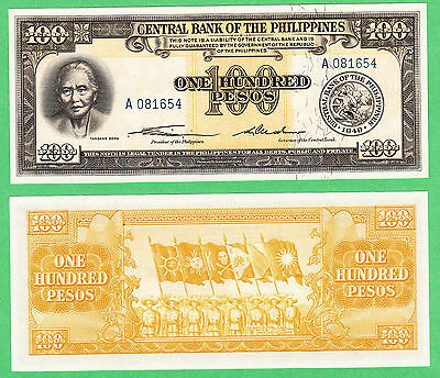 Philippines 100 Pesos Note P-139a  UNCIRCULATED