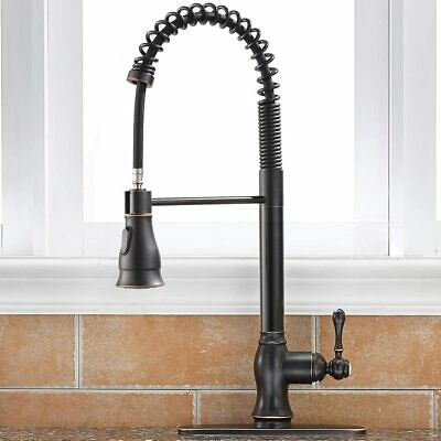 Commercial Pull Down Kitchen Sink Faucet Brass Lock Spray Oil Rubbed