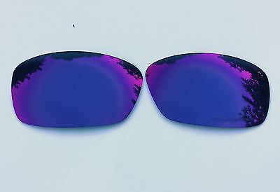 New Engraved Polarized Blue & Red Mirrored Replacement Oakley Hijinx Lenses