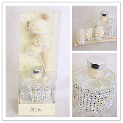 Large Luxury Home Fragrance Cotton Reed Stick Flower Essential Oil Diffuser Set